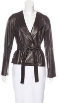The Row Long Sleeve Leather Jacket