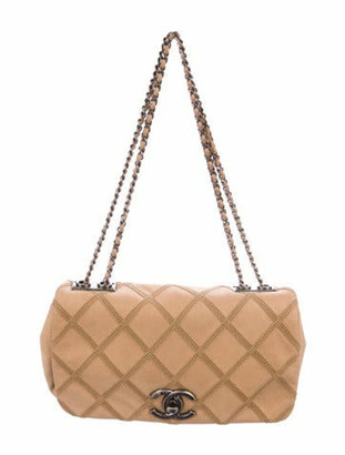 Chanel Diamond Stitch Flap Bag silver
