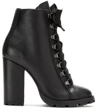 Schutz High Lace-Up Boots