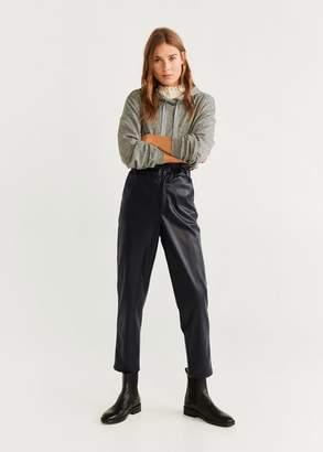 MANGO Paper bag trousers black - XXS - Women