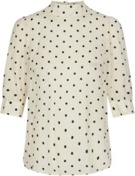 Jagger Co'couture Dot Blouse - XS (34-36) | polyester | white - White/White