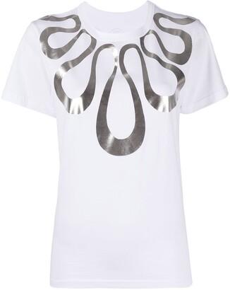 10 Corso Como metallic graphic-print T-shirt