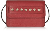 RED Valentino Golden Stars Red Leather Shoulder Bag