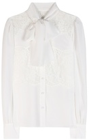 Dolce & Gabbana Lace-paneled silk blouse