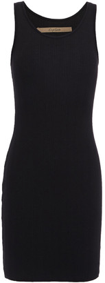 Enza Costa Ribbed Stretch Cotton And Modal-blend Jersey Mini Dress