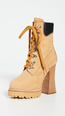 Moschino Platform Lace Up Ankle Boots