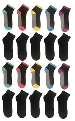 Wonder Nation Girls Ankle Socks 20-Pack, Sizes S-L