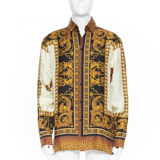 Versace Beige Silk Shirts
