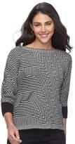 Dana Buchman Petite Boatneck Sweater