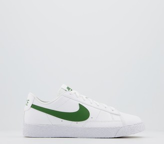 Nike Blazer Low Gs Trainers White Forest Green