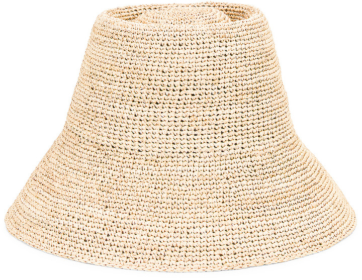 Janessa Leone Felix Packable Hat in Natural | FWRD