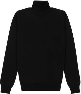 DSQUARED2 Black Logo-intarsia Wool Jumper