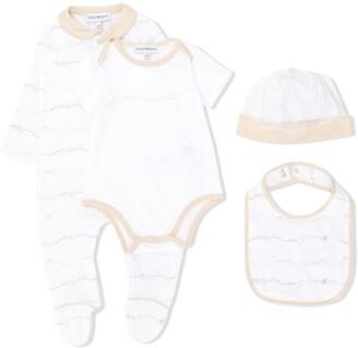 Emporio Armani Kids Logo Print Pajama Set