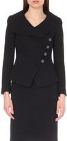 Armani Collezioni Waffle-knit wool jacket