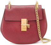 Chloé Sienna Red Drew Shoulder Bag - women - Calf Leather/Goat Skin/Calf Suede - One Size