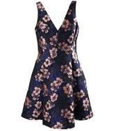 Betsey Johnson Women's Floral Jacquard Fit & Flare Dress