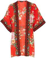 Dorothy Perkins Red Oriental Floral Cover Up