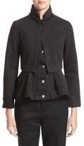 Alexander McQueen Women's Peplum Denim Jacket