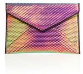 Rebecca Minkoff Leo Hologram Leather Envelope Clutch