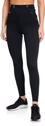 Good American High-Rise Lace-Up Leggings - Inclusive Sizing