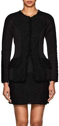 Alexander Wang Women's Neoprene & Tweed Slim Jacket - Black