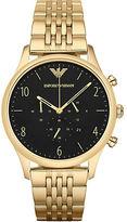 Emporio Armani Goldtone Stainless Steel Bracelet Chronograph
