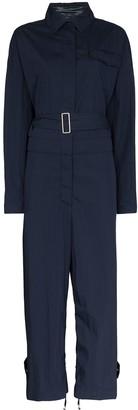 Moncler Belted Long-Sleeve Jumpsuit
