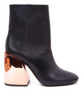 black boots gold heel - ShopStyle