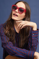 Anthropologie Ruby Red Square Glasses