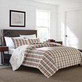 Eddie Bauer Point Permit Plaid Full/Queen Comforter Set in Red