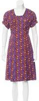 Prada Heart Print Midi Dress