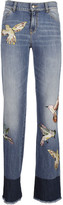 Valentino Bird Applique Jeans