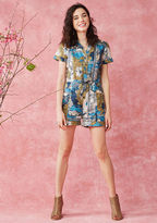 ModCloth Lighthearted Cartographer Romper in XL