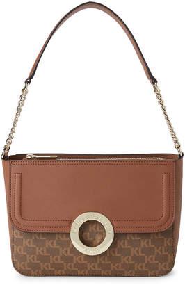 Karl Lagerfeld Paris Brown Clarise Shoulder Bag