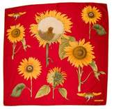 Tiffany & Co. Sunflower Pritned Square Scarf
