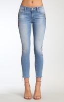 Mavi Jeans Adriana Ankle Super Skinny In Lt Embroidery Vinta