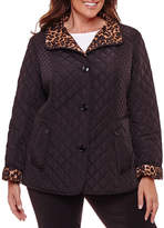 Liz Claiborne Quilted Jacket-Plus
