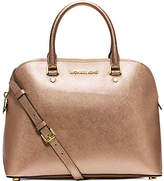 Michael Kors Cindy Large Metallic Leather Satchel