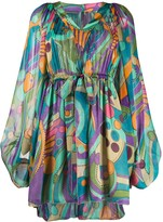 Alberta Ferretti psychedelic print dress