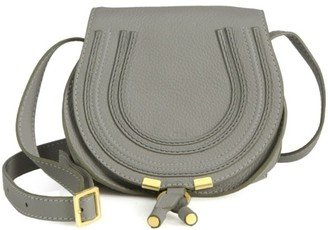 Chloé Mini Marcie Leather Saddle Bag