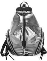 Rebecca Minkoff Julian Zip Metallic Backpack
