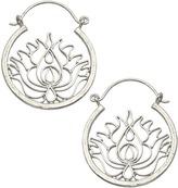 Dream Mullick Silver Lotus Basket Hoop Earrings