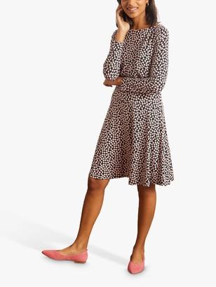 Boden Nellie Jersey Dress, Black Bubbles
