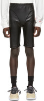 adidas By Alexander Wang by Alexander Wang Black Faux-Leather Shorts