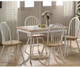 Boraam 5-Piece White and Natural Dining Set