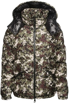 Moncler Badymore Hooded Camouflage Down Jacket