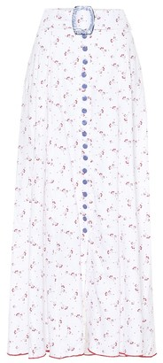 Gã1⁄4l Hã1⁄4rgel Floral linen maxi skirt