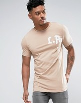 Asos Longline Muscle T-Shirt With LA Print