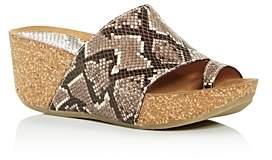 Donald J Pliner Women's Ginie Snake-Embossed Platform Wedge Slide Sandals
