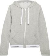 Calvin Klein Underwear Modern Cotton-blend Jersey Hooded Top - Gray